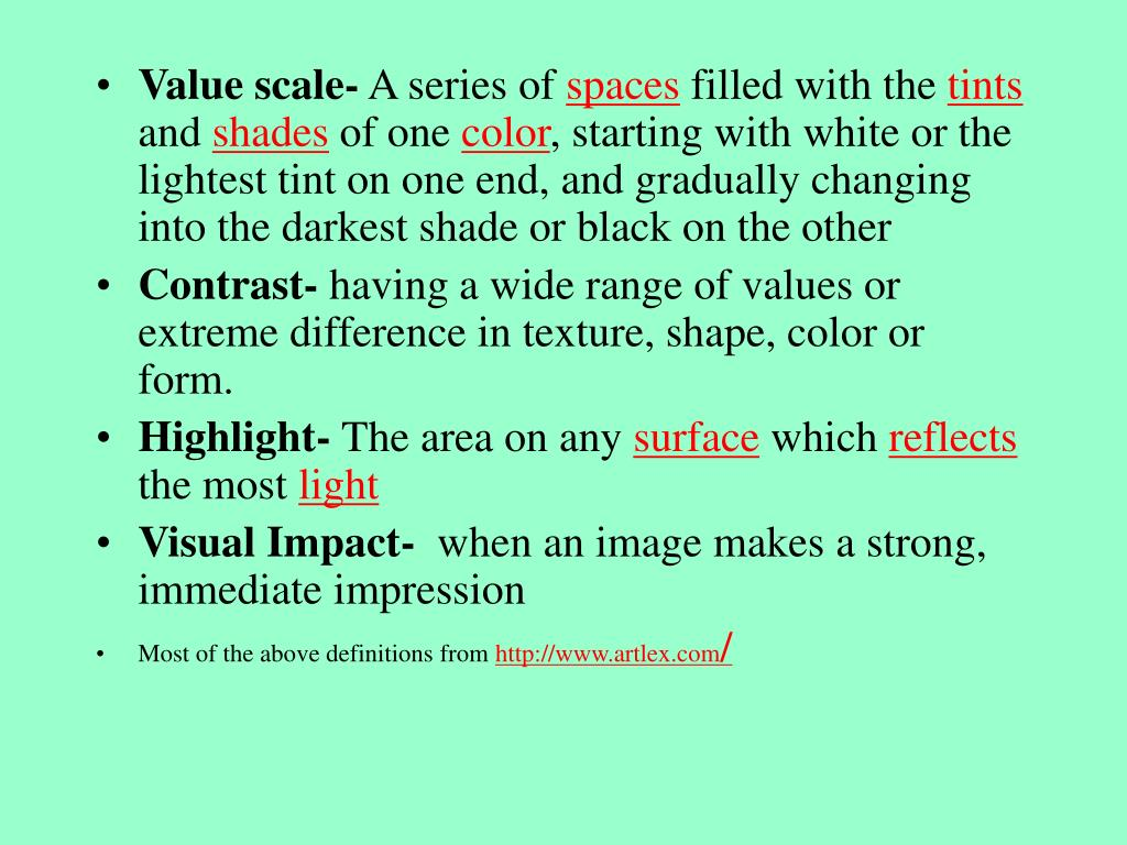 Value scale-