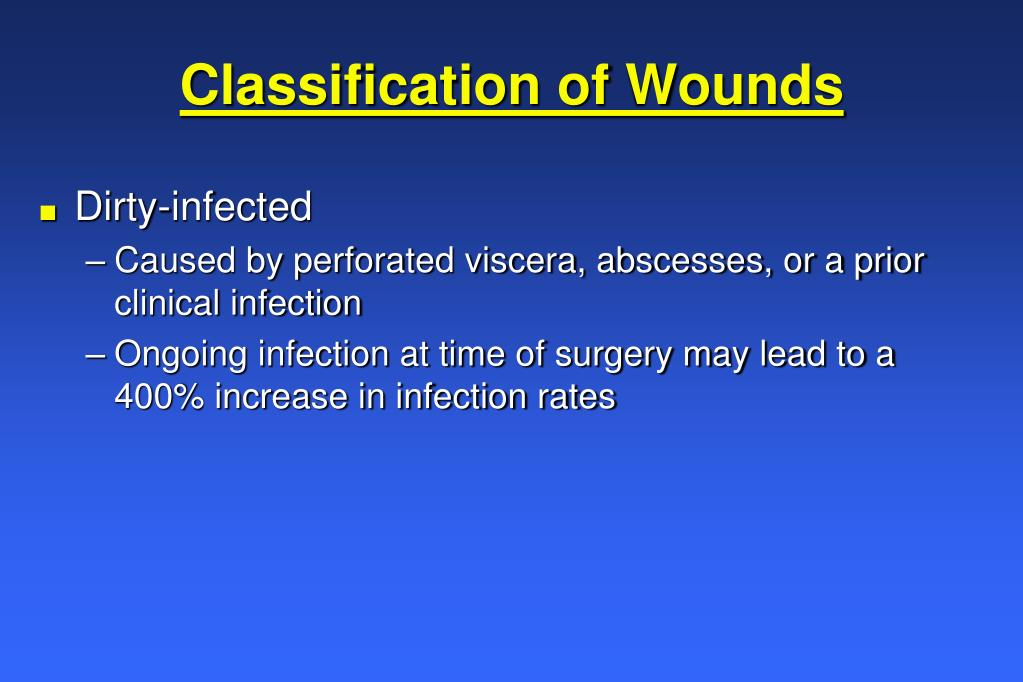 Classification of Wounds