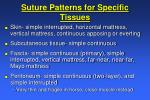 suture patterns for specific tissues