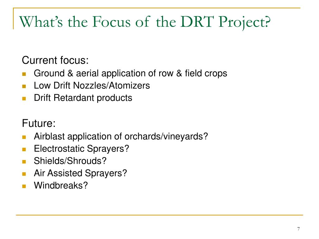 What's the Focus of the DRT Project?