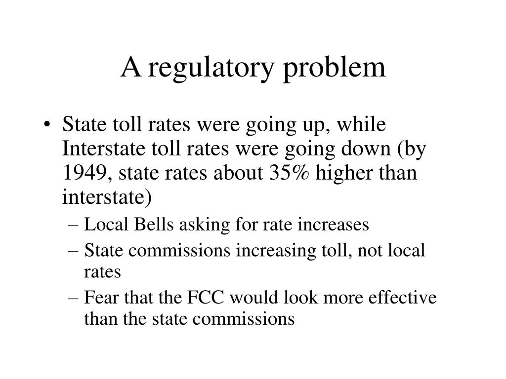 A regulatory problem