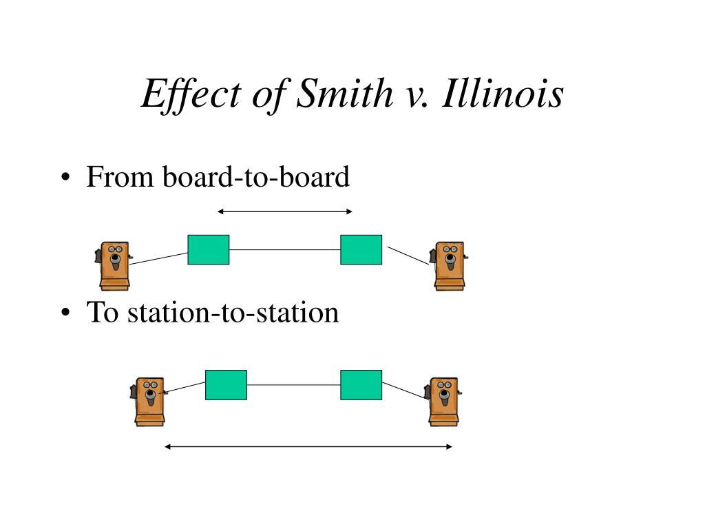 Effect of Smith v. Illinois