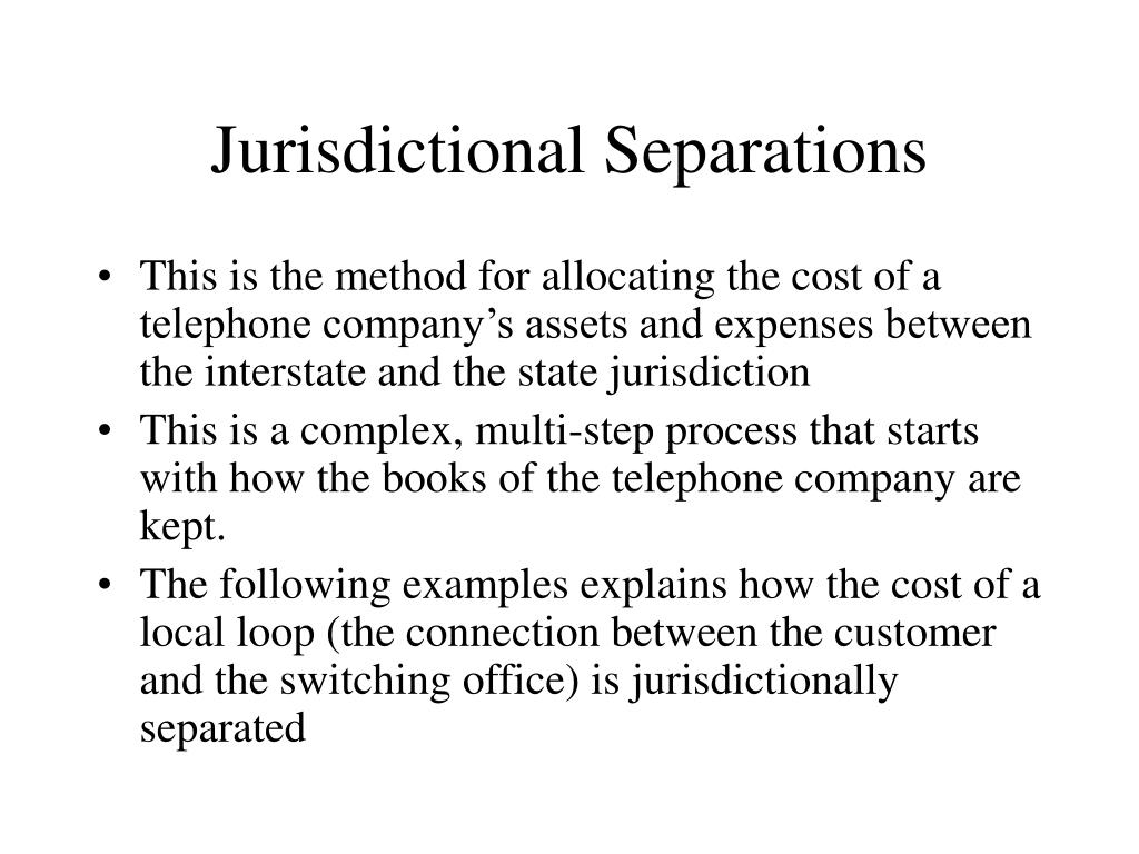 Jurisdictional Separations