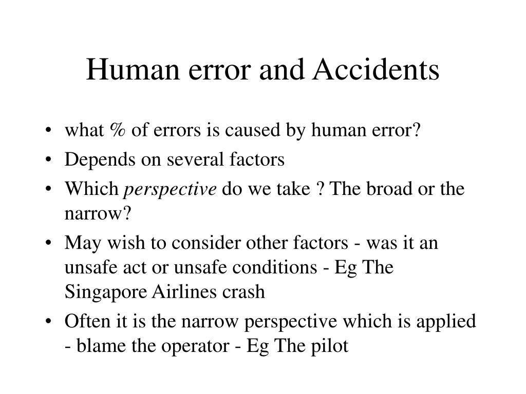 Human error and Accidents