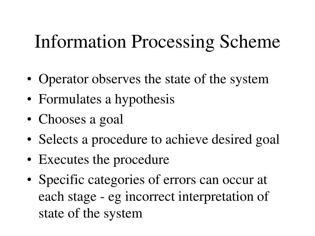 Information Processing Scheme