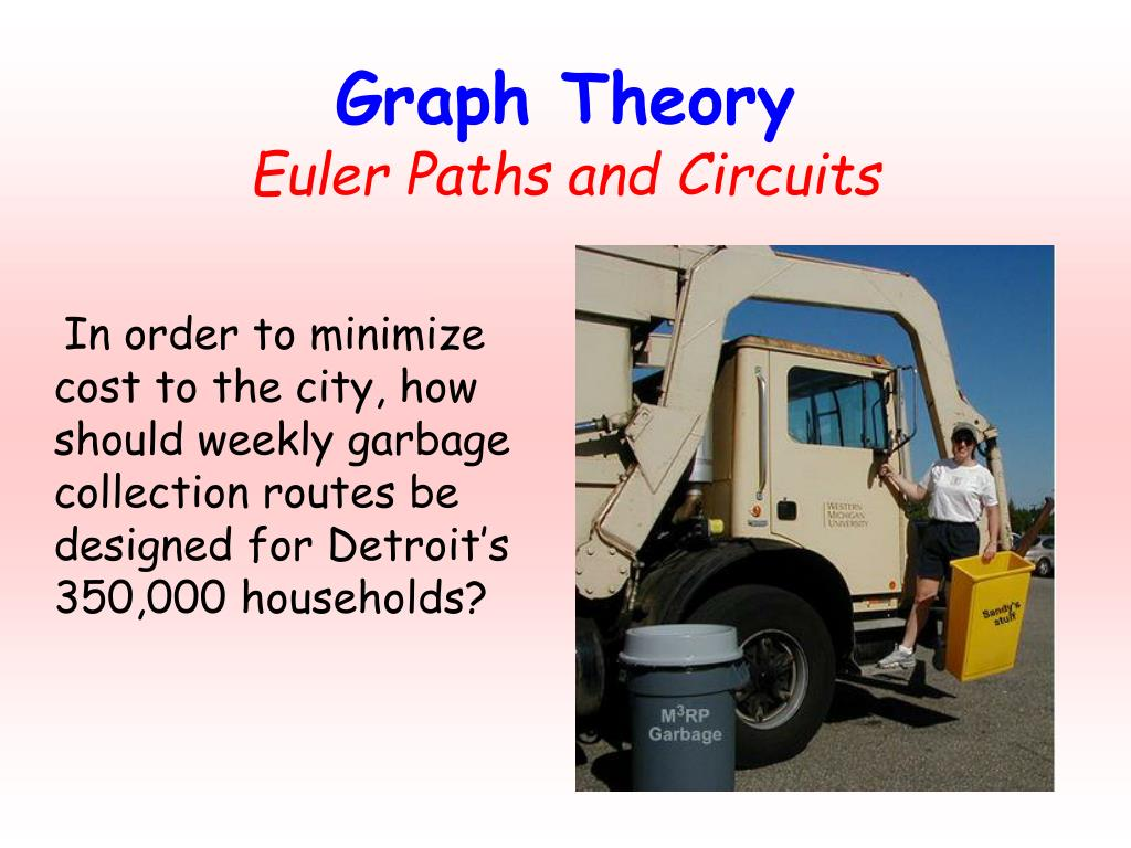 In order to minimize cost to the city, how should weekly garbage collection routes be designed for Detroit's 350,000 households?