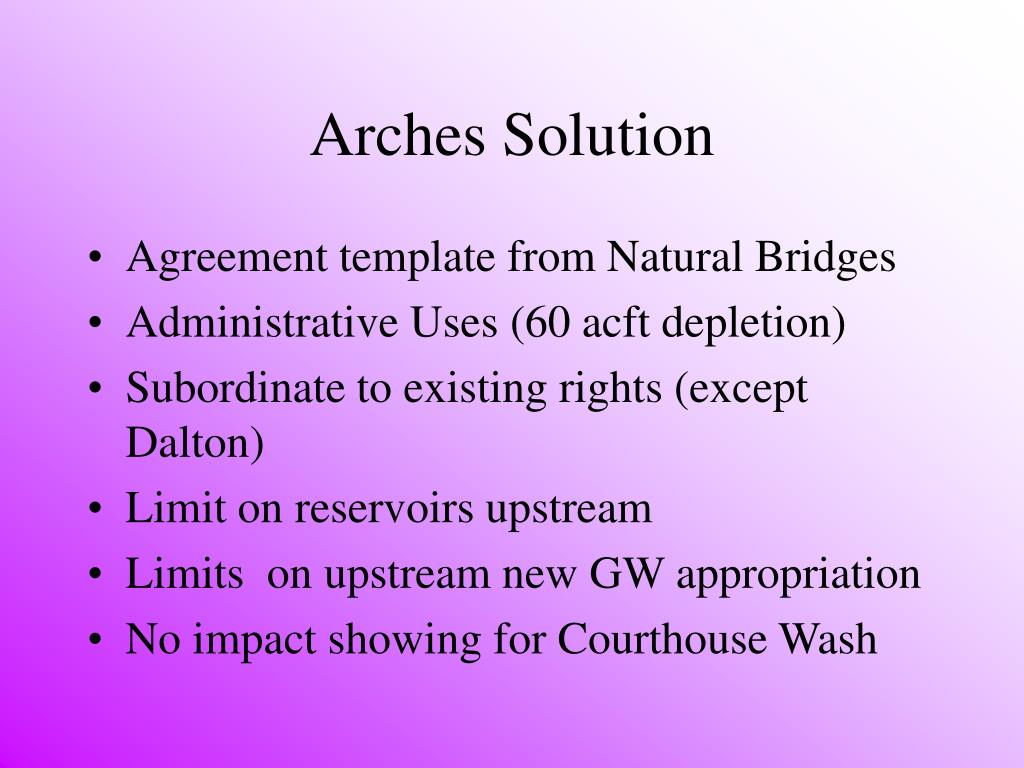 Arches Solution