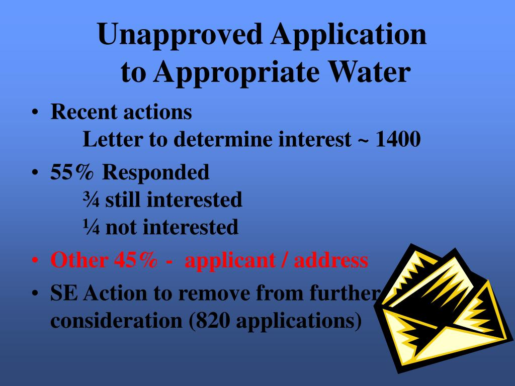 Unapproved Application