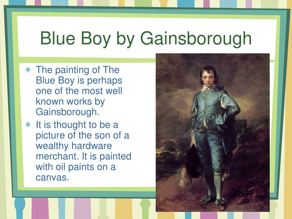 Blue Boy by Gainsborough