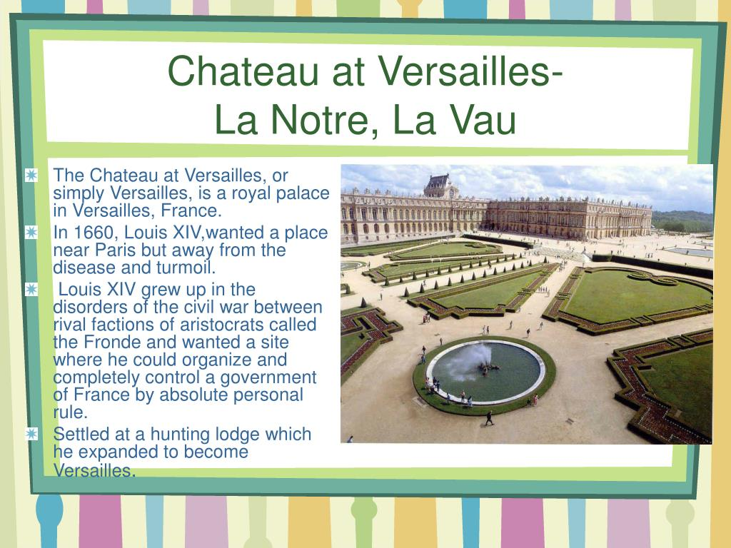 Chateau at Versailles-