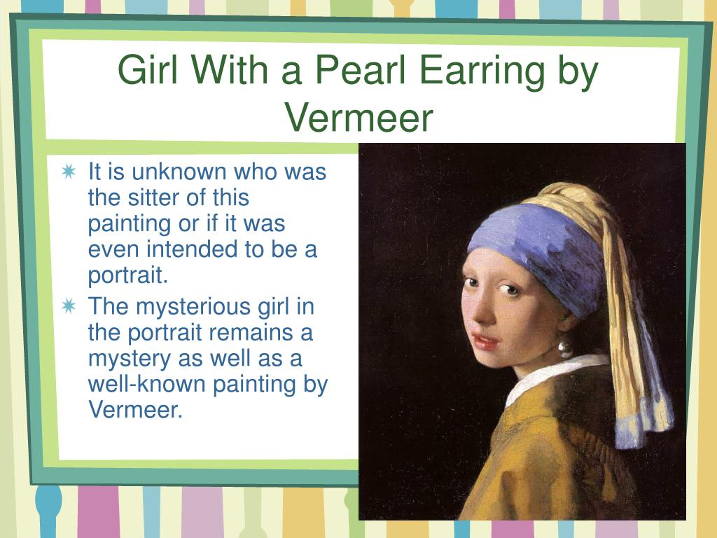 Girl With a Pearl Earring by Vermeer