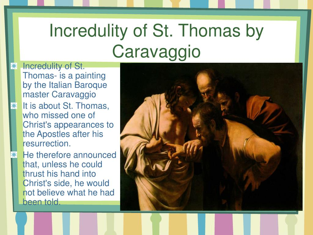 Incredulity of St. Thomas by Caravaggio