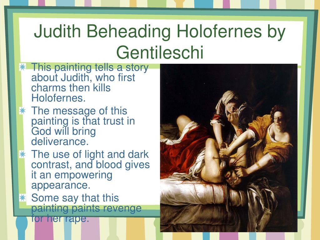 Judith Beheading Holofernes by Gentileschi