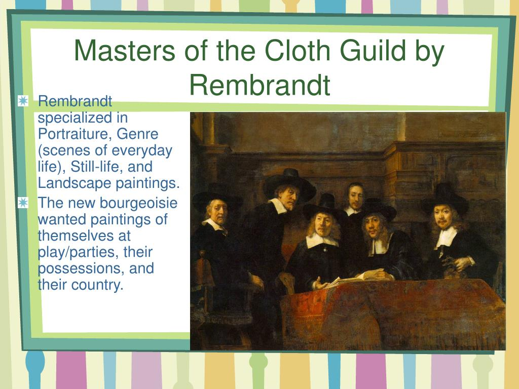 Masters of the Cloth Guild by Rembrandt
