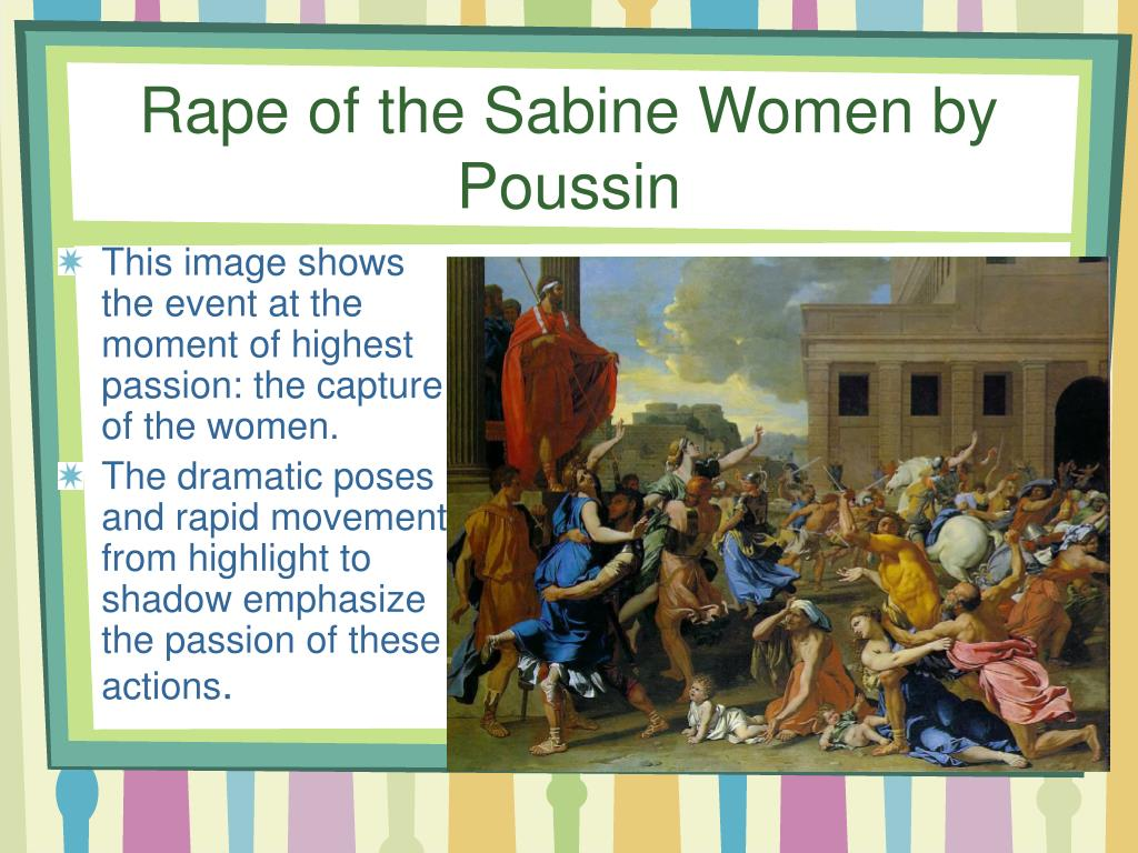 Rape of the Sabine Women by Poussin