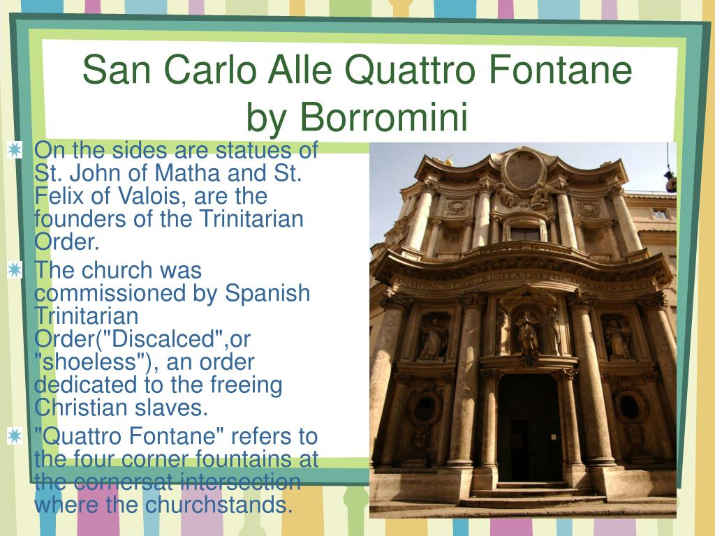 San Carlo Alle Quattro Fontane by Borromini