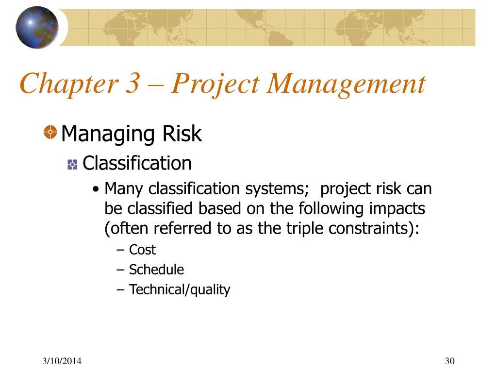 Chapter 3 – Project Management