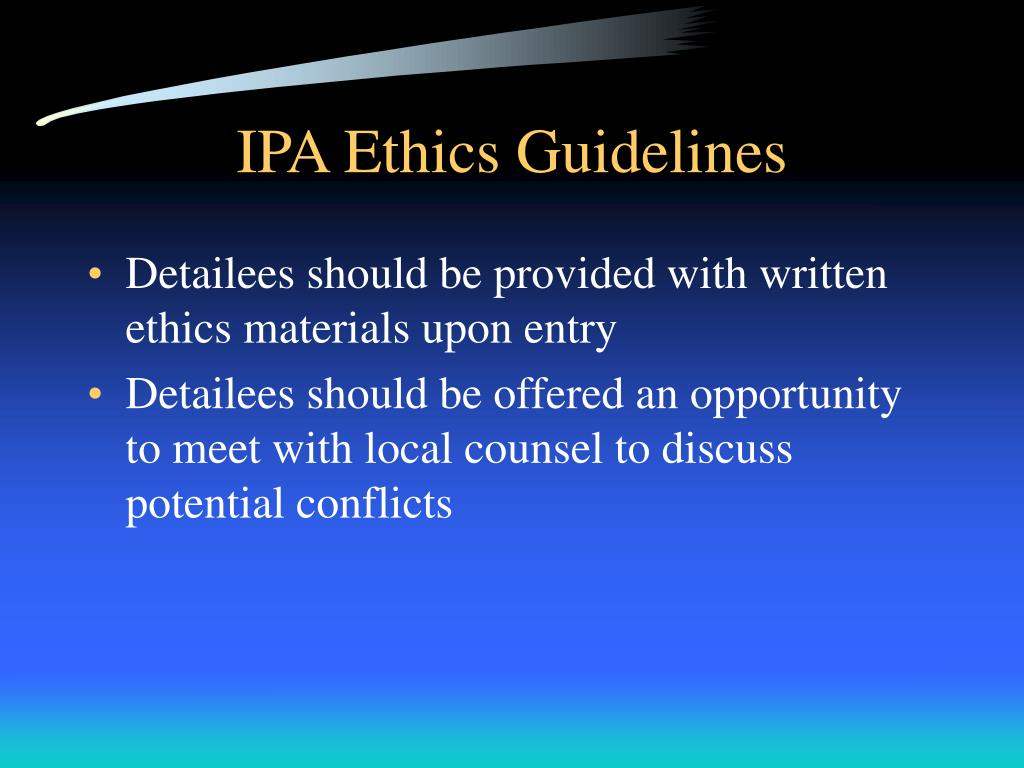IPA Ethics Guidelines