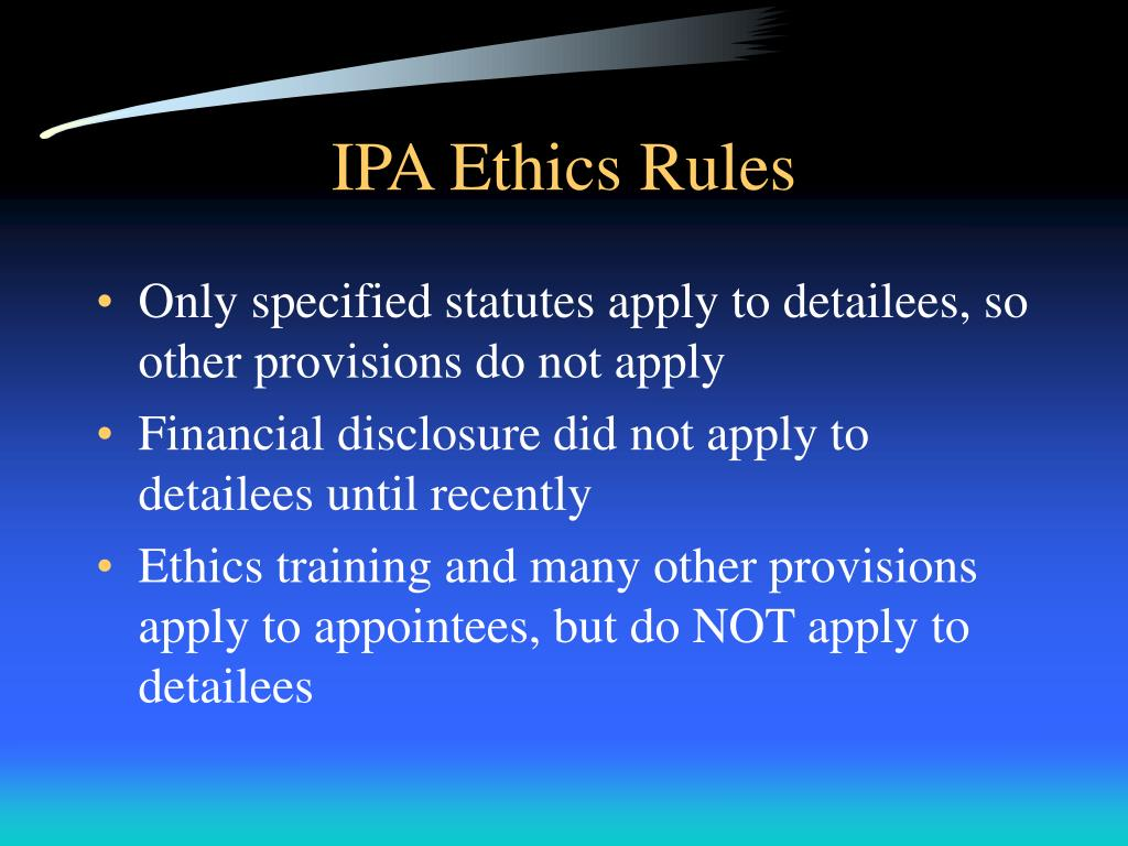 IPA Ethics Rules