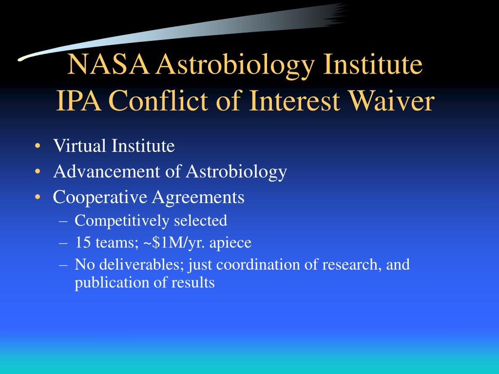 NASA Astrobiology Institute