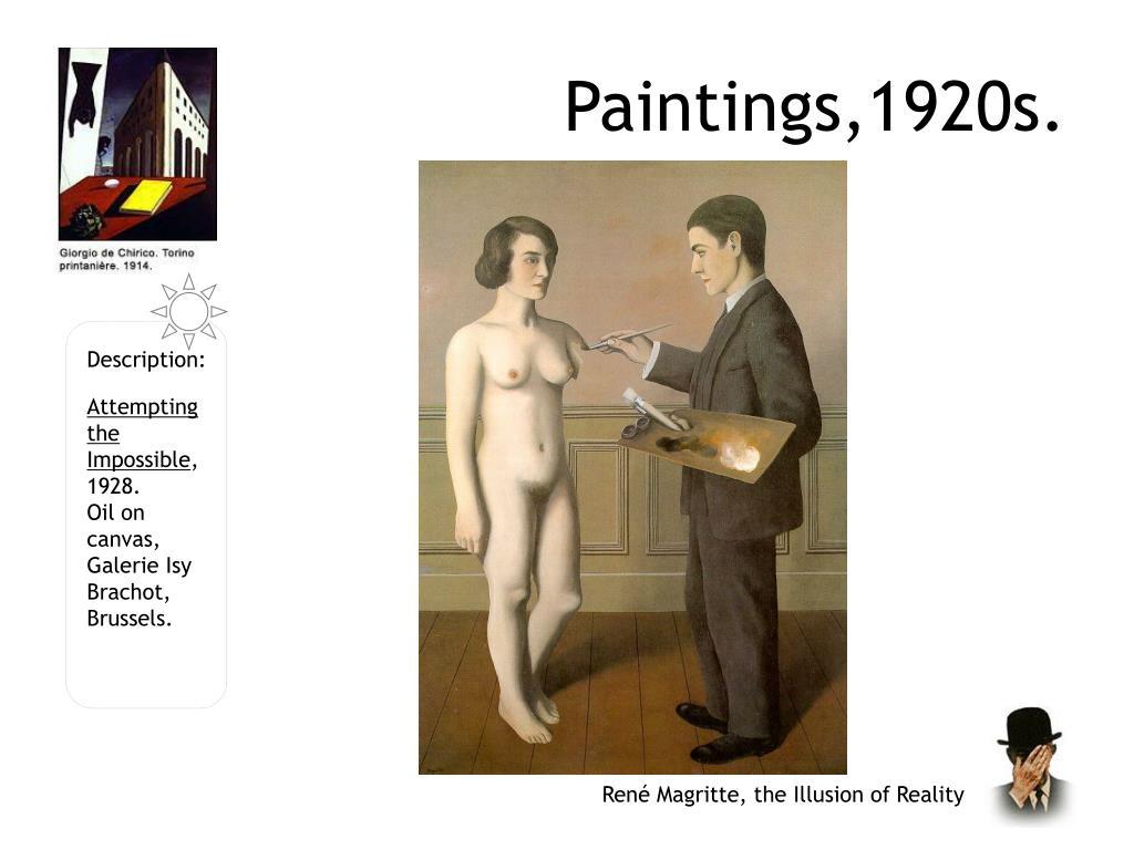 Paintings,1920s.
