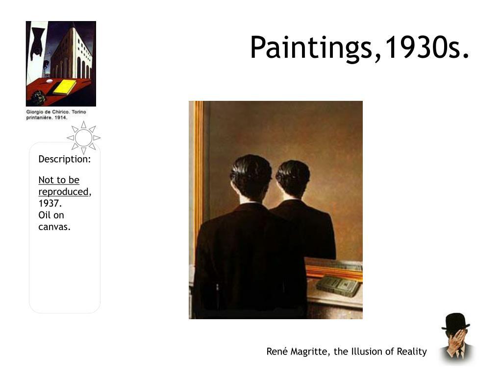 Paintings,1930s.