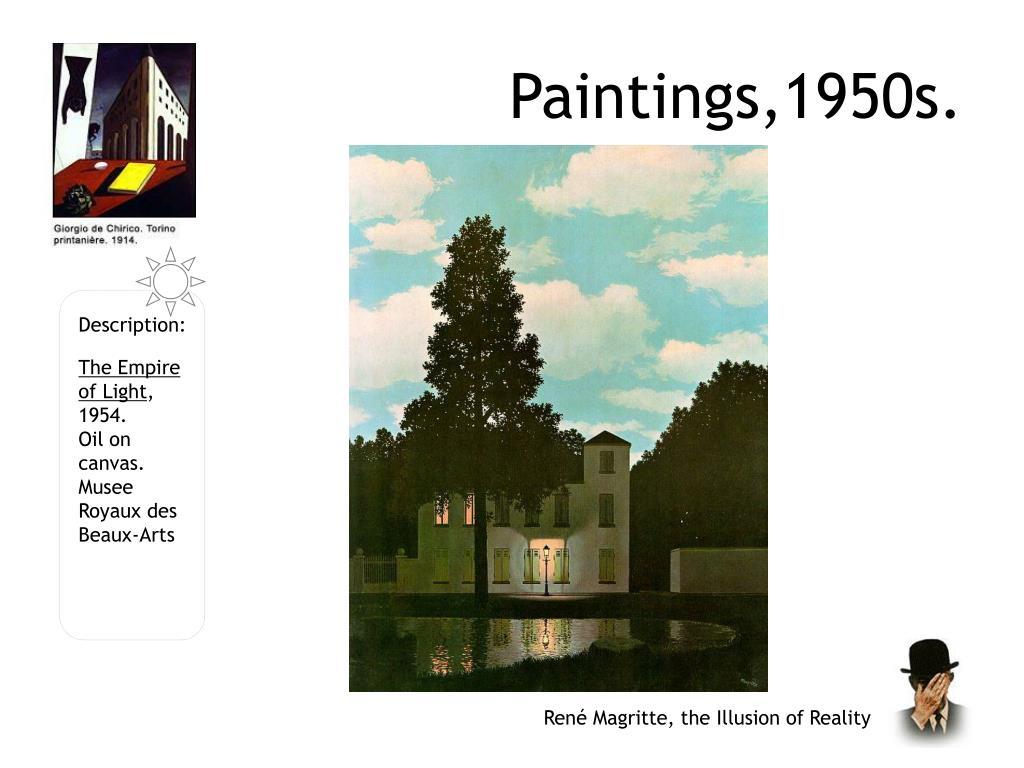 Paintings,1950s.