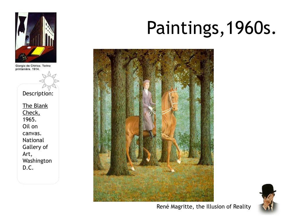 Paintings,1960s.