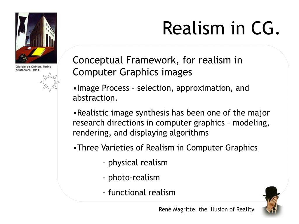 Realism in CG.