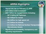 arra highlights