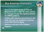 buy american provisions