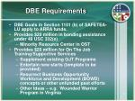 dbe requirements
