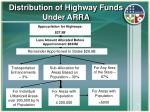distribution of highway funds under arra