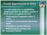 funds apportioned to state12