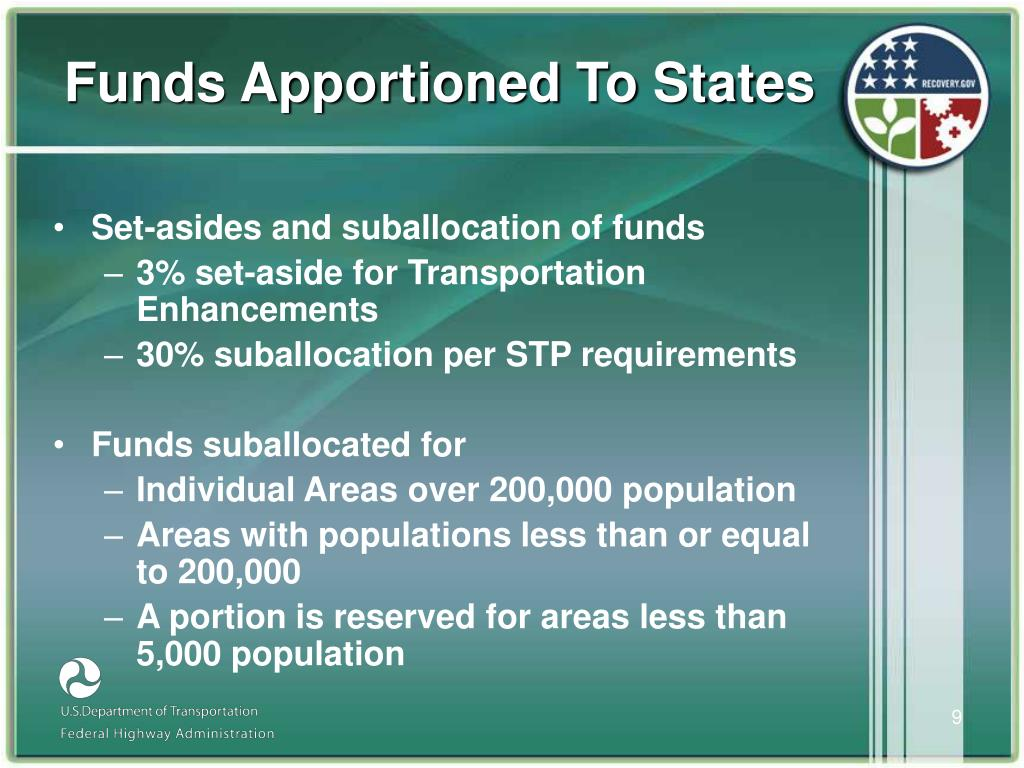Funds Apportioned To States