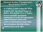 national surface transportation discretionary grants