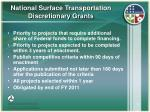 national surface transportation discretionary grants21