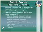 periodic reports reporting schedule