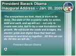 president barack obama inaugural address jan 20 2009