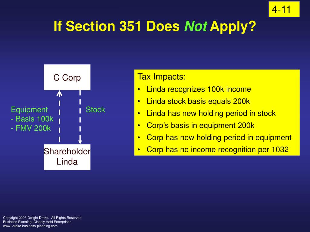 if section 351 does not apply