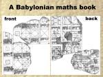 a babylonian maths book