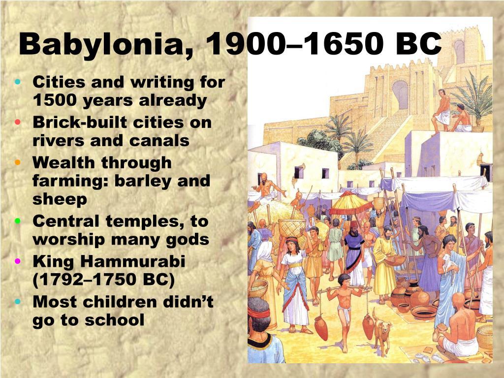 Babylonia, 1900–1650 BC