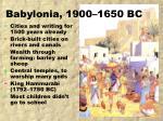 babylonia 1900 1650 bc
