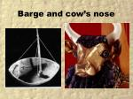 barge and cow s nose