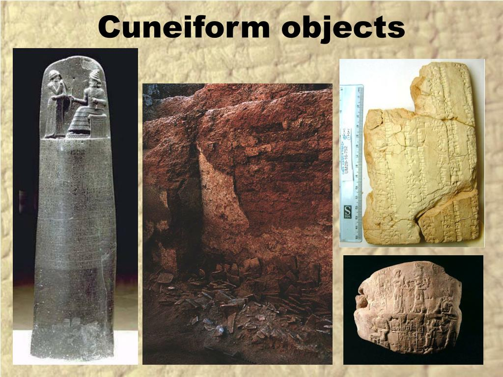 Cuneiform objects