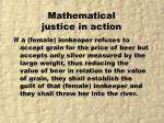 mathematical justice in action