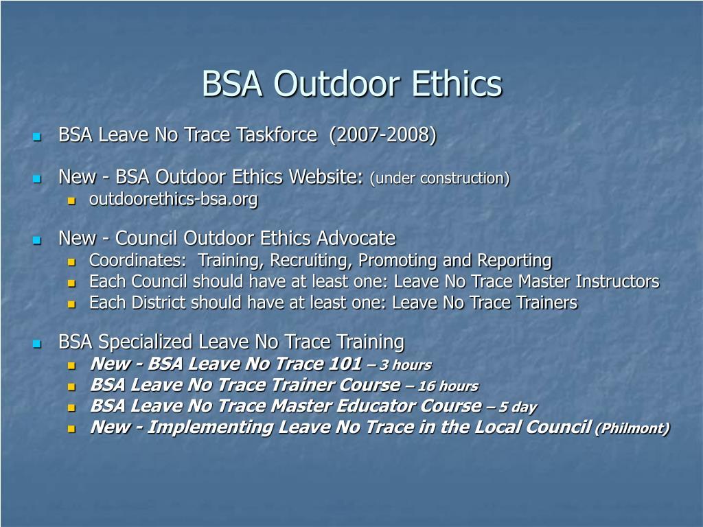 BSA Outdoor Ethics