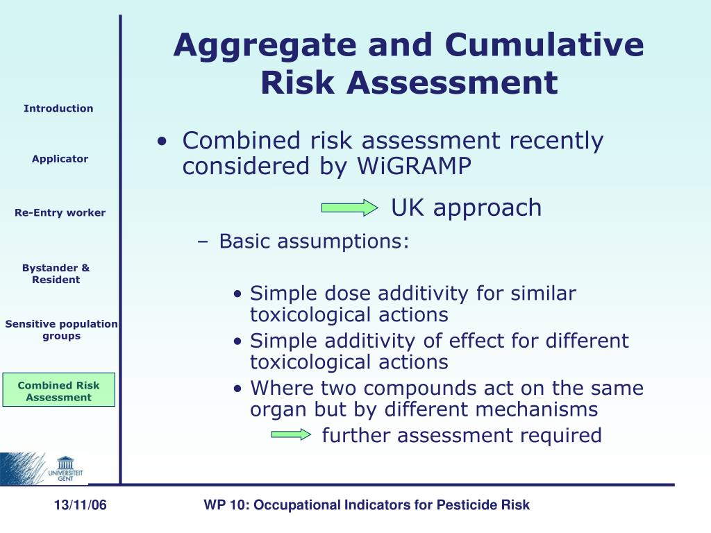 Combined risk assessment recently considered by WiGRAMP