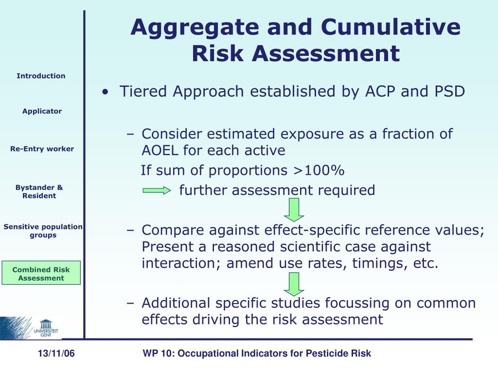 Tiered Approach established by ACP and PSD