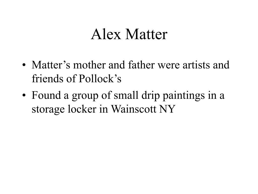 Alex Matter